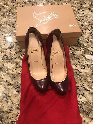 100% Authentic Christian Louboutin Alti Pump 160 Burgundy 37.5
