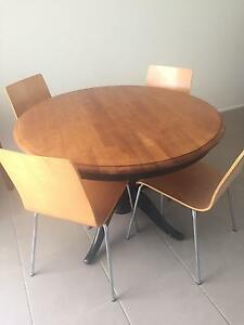Round Dining table & 4 Chairs Middle Park Brisbane South West Preview