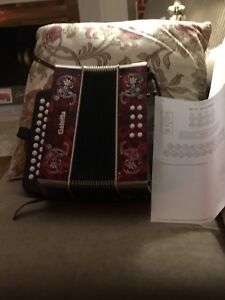 Accordion in A and D ...AD   Like new