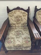 Upholstered Queen Anne armchairs and 3-seater lounge Tempe Marrickville Area Preview