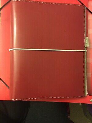 Filofax Domino Soft Organizer Dark Red - A5 Size - New -