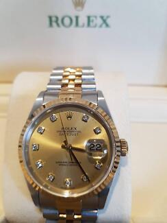 Rolex Datejust Gold Diamond Dial 36mm