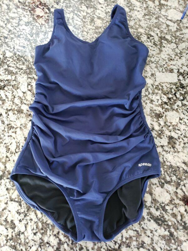 Speedo swimsuit one piece Endurance Maternity ?blue sz 14