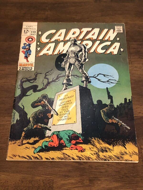 Captain America # 113 Classic Steranko Cover Art Avengers Appearance Hydra
