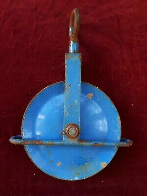 Vintage Industrial Metal 19mm Cable/ Rope Pulley. To Lift Up to 250 kgs. Home