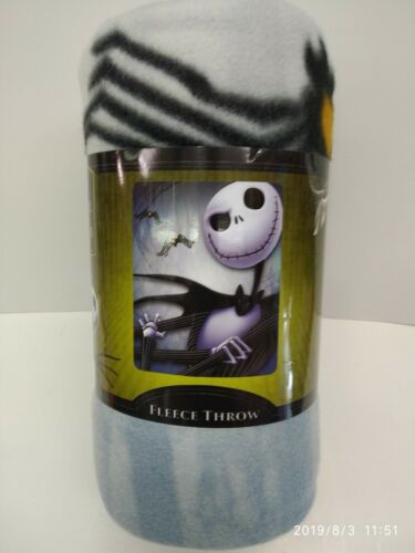 "DISNEY NIGHTMARE BEFORE CHRISTMAS 45""X60"" FLEECE THROW BLANKET 100% ORIGINAL"
