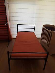 2 single metal beds w/ 5 inch mattresses Wollstonecraft North Sydney Area Preview