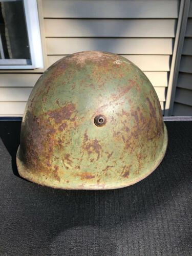 WWII Italian M33 Steel Helmet /w Size 58 Liner