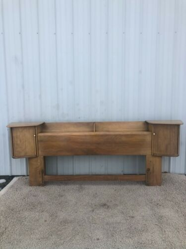 Mid Century Modern King Sized Storage Headboard by Heywood Wakefield