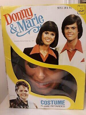 Vtg 1977 COLLEGEVILLE Marie OSMOND HALLOWEEN COSTUME MASK TV Celebrity As Is