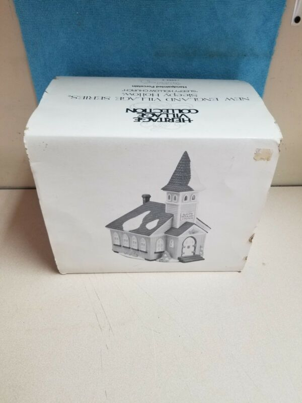 Department 56 New England Village Series SLEEPY HOLLOW CHURCH lighted 5955-2