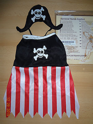 NEU*Piratenkostüm f.Hunde Gr.XS (20cm)Hundekostüm Pirat/Fasching-Karneval-Kostüm ()
