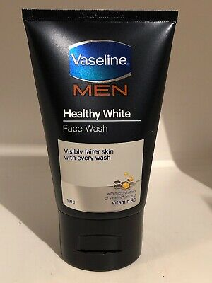 Vaseline Men Healthy White Face Wash with micro droplet jelly Vitamin E B3 100gr Healthy Face Wash