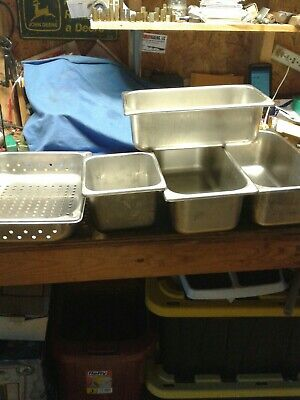 5 Vollrath Steam Table 13 Pan Nsf Stainless Steel 16 And Steam Pan