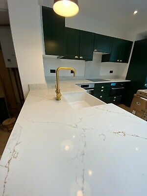 Calacatta Gold Quartz Kitchen Worktop | All colours available | Affordable