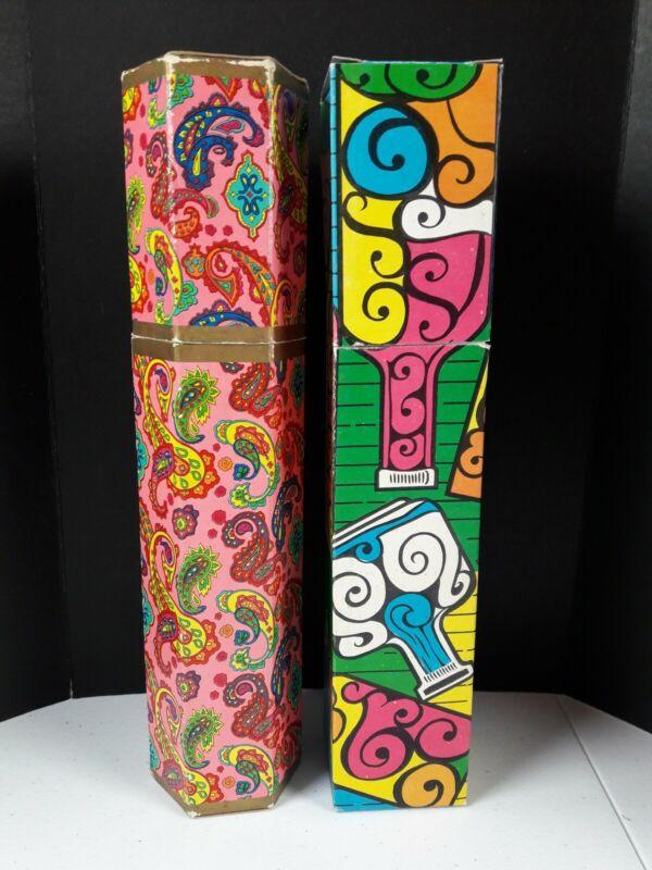 Vintage Match Box Groovy Colors Paisley 1960