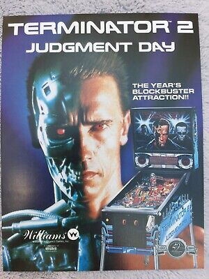 Terminator 2:judgement Day pinball Machine flyer
