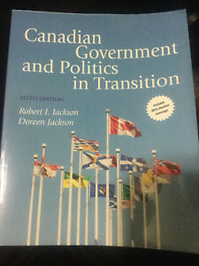 Canadian government and politics book for sale