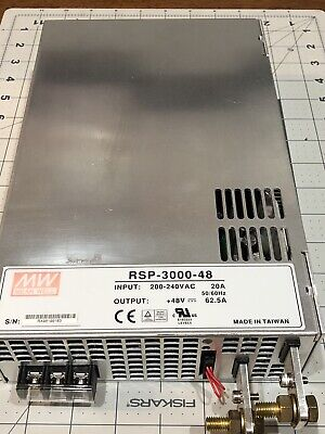 Mean Well Rsp-3000-48 Single Output Switching Power Supply 48v 0-62.5a 3000w