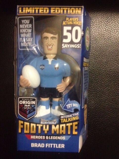 state of origin footy mate doll bnib free post BRAD FITTLER   (nrl  2)