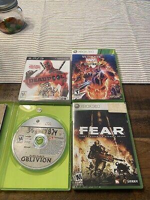 Xbox 360/ PS3 Lot; Marvel Vs. Capcom 3, FEAR, Deadpool, Elder Scrolls IV
