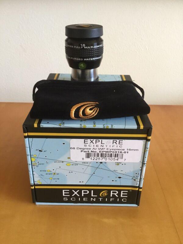 "Explore Scientific 1.25"" 68-deg Series Argon-Purged Waterproof Eyepiece - 16mm"