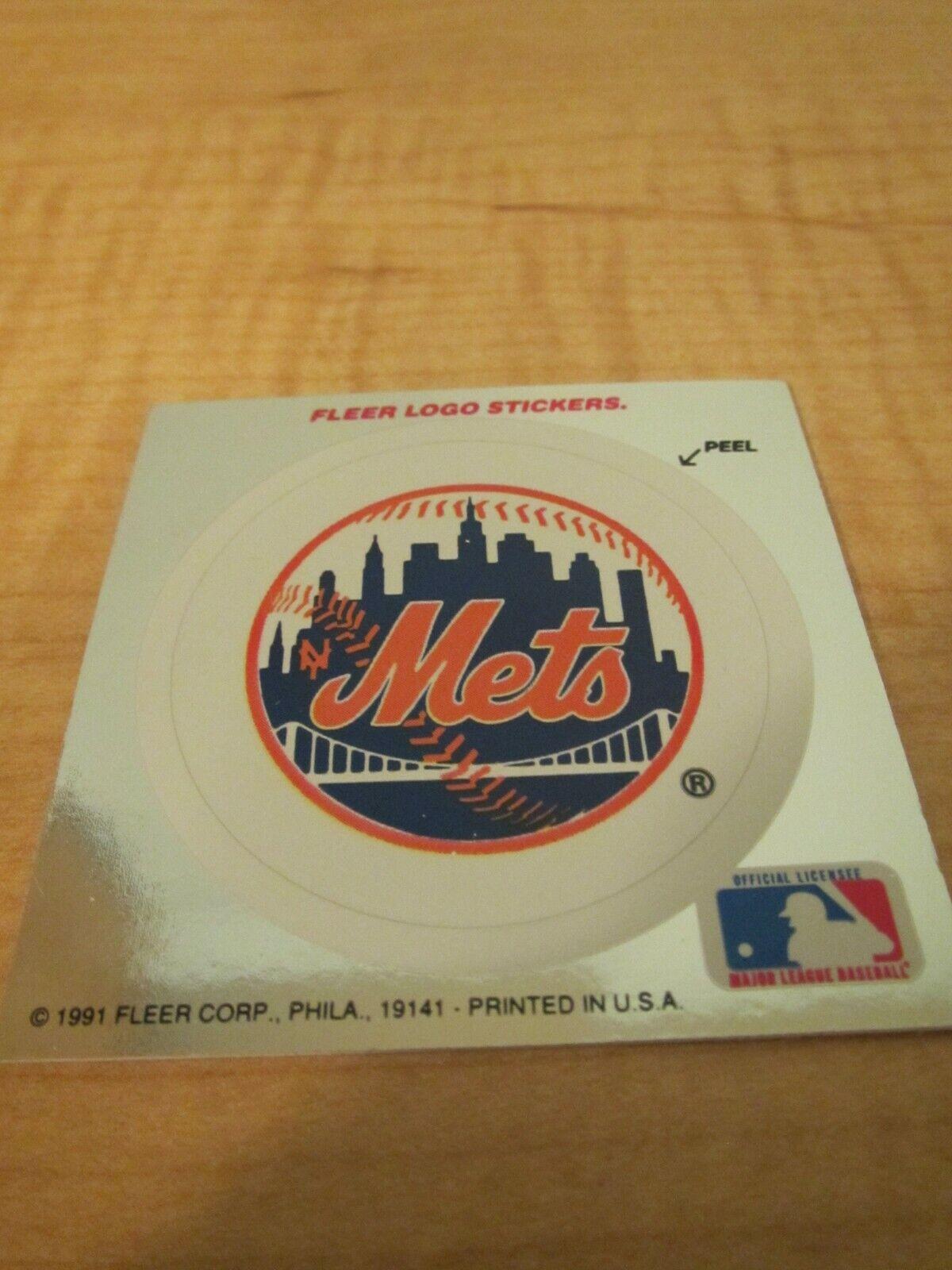 1991 Fleer Ultra Baseball New York Mets Logo Sticker - $1.99