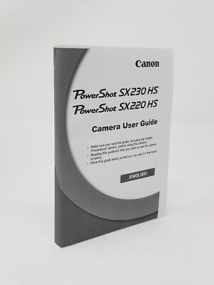 (Canon SX230 HS Digital Camera Instruction Owners Manual Book NEW)