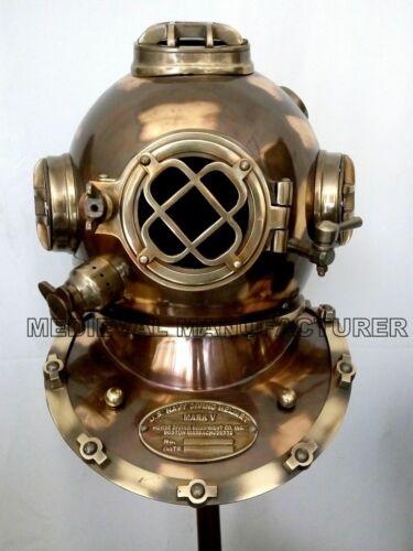 Antique Style Diving Helmet Mark V Deep Sea Divers Helmet Vintage Replica Solid