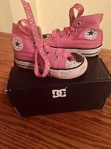 Toddler size 5 blinged out Converse