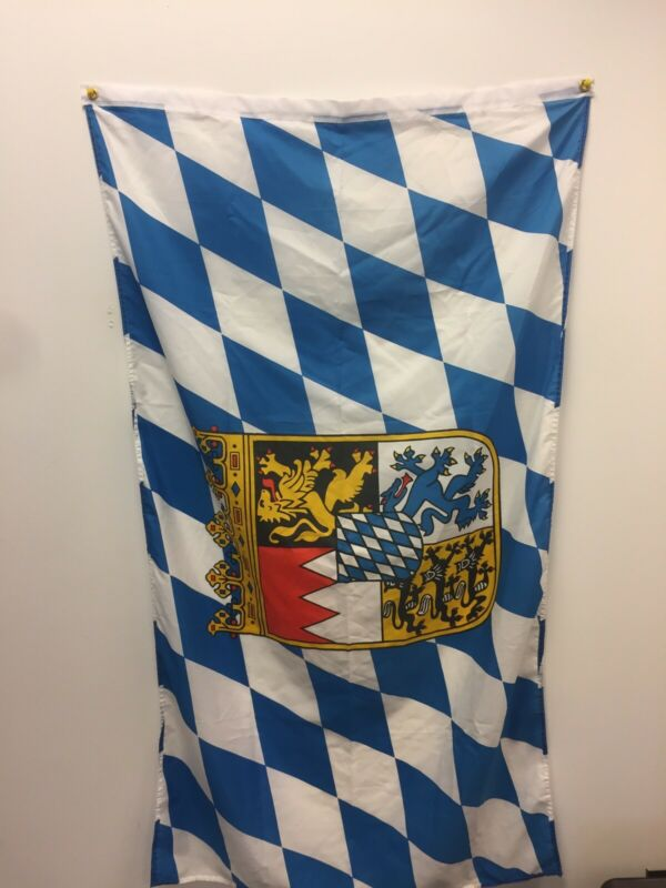 Bavarian Flag, About 3ft X 5ft
