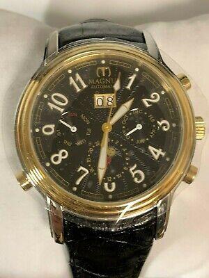 MAGNUS Lugano M104MTB82 Automatic Mens Watch Leather Strap - SALE