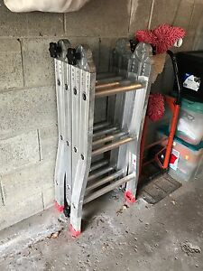 16 foot aluminum folding ladder