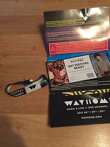 WAYHOME music and arts festival wristband (3 day admission)