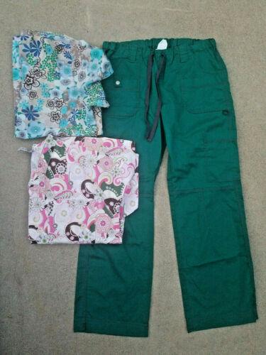 Lot Of Medium Scrubs Medical Cherokee Dickies Green Pink Blue Pants Tops Pockets