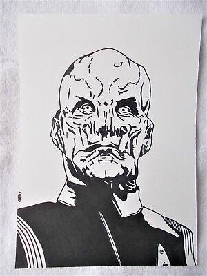 A4 Art Marker Pen Sketch Drawing Doug Jones as Saru Star Trek Discovery Poster