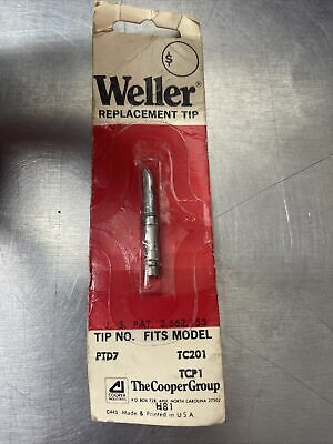 Weller Pt Series Soldering Replacement Tip Ptd7 For Tcp1tc201 Soldering Irons