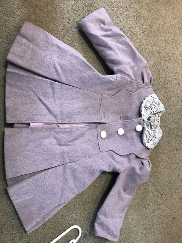 Rothschild Coat Girls Lavender Size 3 Cosplay Dress Up Vintage