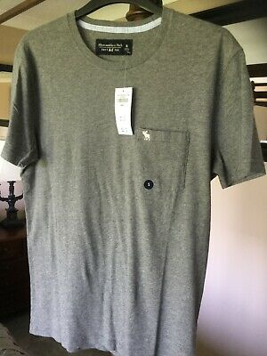 ABERCROMBIE & fitch grey t shirt new tags size s