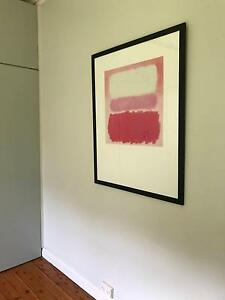 Large Rothko-style painting (print) Darling Point Eastern Suburbs Preview