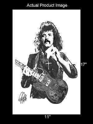 Tony Iommi Black Sabbath Guitar Rock Music Print Poster Wall Art 11x17 - $16.99