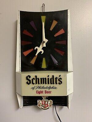 Vintage Schmidt's Lighted Wall Clock C-69 Motion Pendulum Beer Sign REPAIR/PART