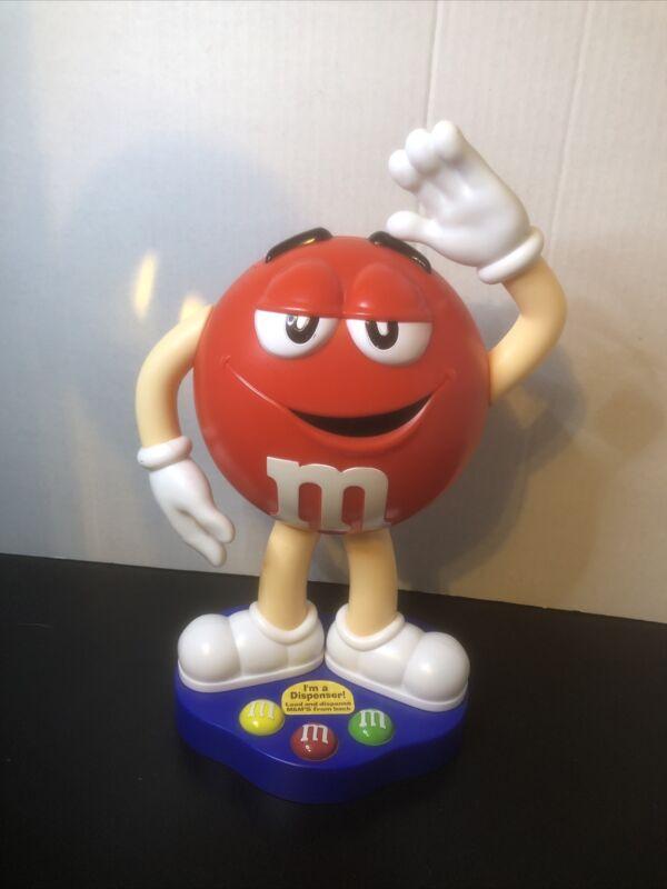 Red M & M Candy Dispenser Mars Company 2012 Waving M & M