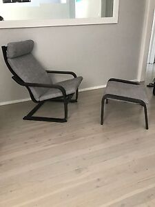 IKEA Poang rocking chair and stool Engadine Sutherland Area Preview