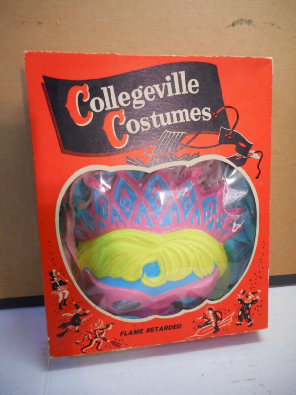 Vintage Collegeville Costumes Cinderella #12-C Medium Size 8-10, Nylon w/ Mask