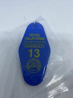 Motel Key Fob/ Key Chain- Hotel California: Fast Shipping Blue