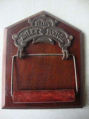 Antique original Yelloc toilet roll holder on reclaimed board