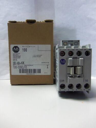 New Allen Bradley 100-C09ZJ10 3 Pole Contactor 24V DC Series A NIB