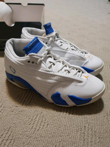 best cheap 95526 f2d7b Air Jordan 14 Retro Low white pacific blue 10.5US Mens