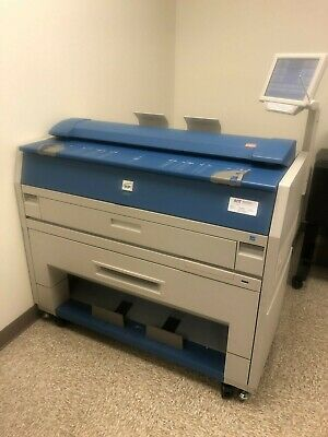 KIP 3100 WIDE FORMAT PLOTTER PRINTER SCANNER (LOW METER & GOOD TEST PRINT)
